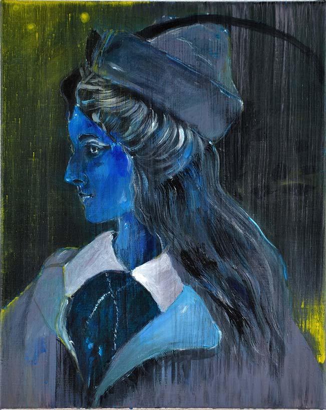 Ineke Damen: 'Actress', 2018, 50x40cm, Acrylic on linen