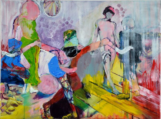 Ineke Damen: 'Adoration', 2017-60x80cm, Acrylic on canvas