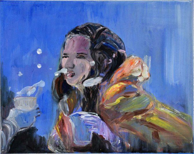 Ineke Damen: 'Snowwhite', 2017, 24x30 cm, Acrylic on canvas